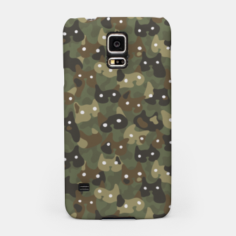 Miniature de image de Ghostly camouflaging cats are watching you in khaki Samsung Case, Live Heroes