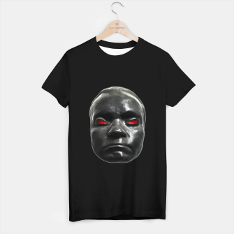 Miniature de image de Creepy Black Man Mask Print T-shirt regular, Live Heroes