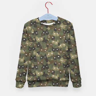 Miniature de image de Ghostly camouflaging cats are watching you in khaki Kid's sweater, Live Heroes
