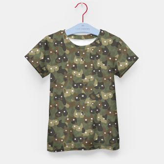 Miniature de image de Ghostly camouflaging cats are watching you in khaki Kid's t-shirt, Live Heroes