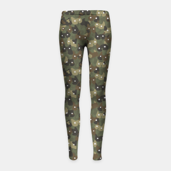 Miniature de image de Ghostly camouflaging cats are watching you in khaki Girl's leggings, Live Heroes