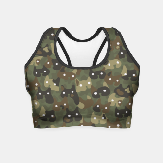 Miniature de image de Ghostly camouflaging cats are watching you in khaki Crop Top, Live Heroes