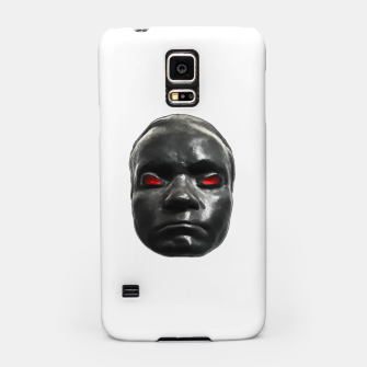 Miniature de image de Creepy Black Man Mask Print Samsung Case, Live Heroes