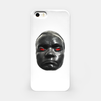 Miniature de image de Creepy Black Man Mask Print iPhone Case, Live Heroes