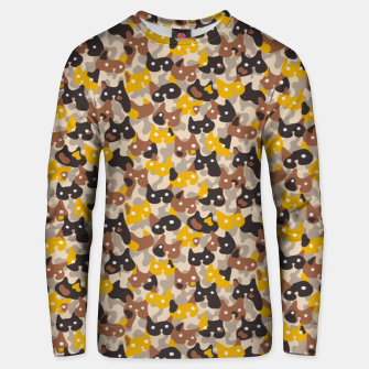 Miniaturka Ghostly camouflaging cats are watching you in brown Unisex sweater, Live Heroes