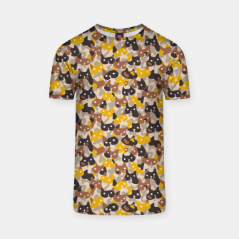 Miniature de image de Ghostly camouflaging cats are watching you in brown T-shirt, Live Heroes