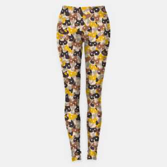 Miniature de image de Ghostly camouflaging cats are watching you in brown Leggings, Live Heroes