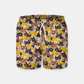 Miniature de image de Ghostly camouflaging cats are watching you in brown Swim Shorts, Live Heroes