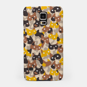 Thumbnail image of Ghostly camouflaging cats are watching you in brown Samsung Case, Live Heroes