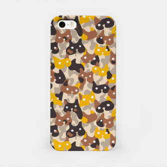 Thumbnail image of Ghostly camouflaging cats are watching you in brown iPhone Case, Live Heroes