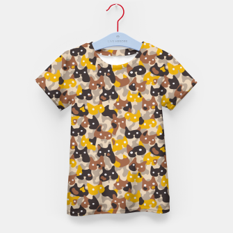 Thumbnail image of Ghostly camouflaging cats are watching you in brown Kid's t-shirt, Live Heroes