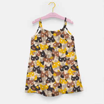 Thumbnail image of Ghostly camouflaging cats are watching you in brown Girl's dress, Live Heroes