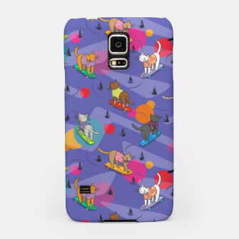 Thumbnail image of Skateboarding cats on the streets of Catsville in violet sun-spots Samsung Case, Live Heroes
