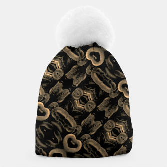 Thumbnail image of Modern Intricate Print Pattern Beanie, Live Heroes
