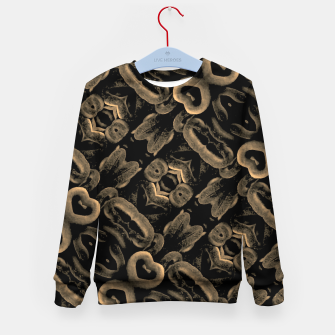 Thumbnail image of Modern Intricate Print Pattern Kid's sweater, Live Heroes