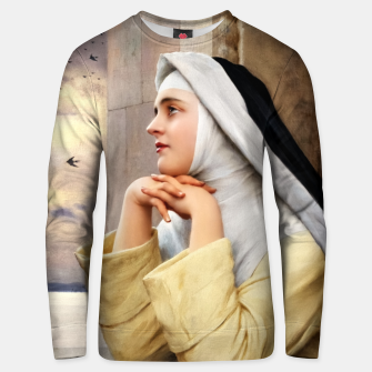 Thumbnail image of GOD's Creatures by Eugene de Blaas Classical Fine Art Reproduction Unisex sweater, Live Heroes
