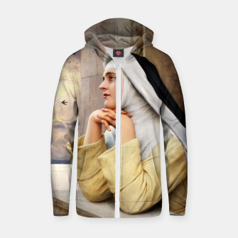 Thumbnail image of GOD's Creatures by Eugene de Blaas Classical Fine Art Reproduction Zip up hoodie, Live Heroes