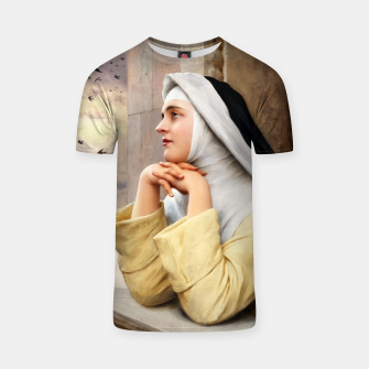 Thumbnail image of GOD's Creatures by Eugene de Blaas Classical Fine Art Reproduction T-shirt, Live Heroes