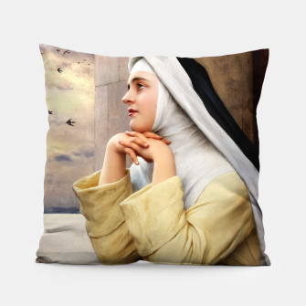 Thumbnail image of GOD's Creatures by Eugene de Blaas Classical Fine Art Reproduction Pillow, Live Heroes