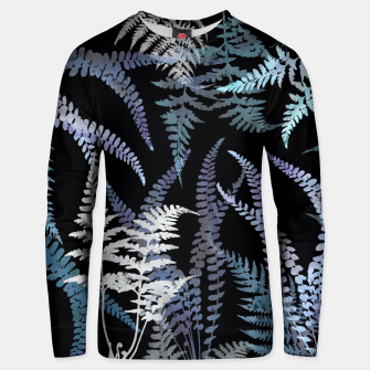 Thumbnail image of Dark Blue Forest Ferns Foliage Unisex sweater, Live Heroes