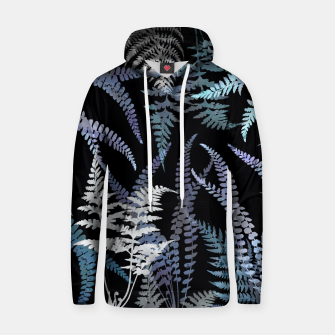 Thumbnail image of Dark Blue Forest Ferns Foliage Hoodie, Live Heroes