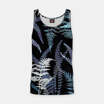 Thumbnail image of Dark Blue Forest Ferns Foliage Tank Top, Live Heroes