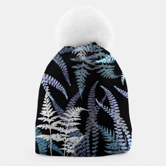 Thumbnail image of Dark Blue Forest Ferns Foliage Beanie, Live Heroes