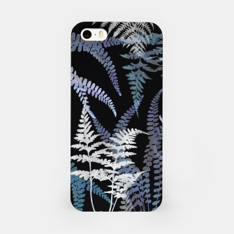 Thumbnail image of Dark Blue Forest Ferns Foliage iPhone Case, Live Heroes