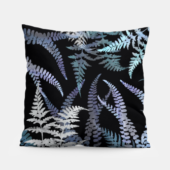 Thumbnail image of Dark Blue Forest Ferns Foliage Pillow, Live Heroes