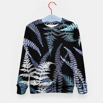 Thumbnail image of Dark Blue Forest Ferns Foliage Kid's sweater, Live Heroes