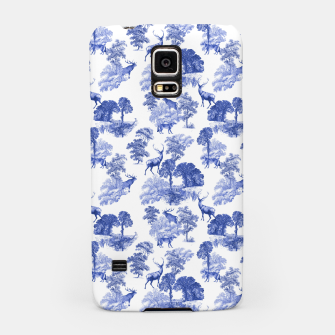 Thumbnail image of Classic Blue Toile Deer in Forest Pattern Samsung Case, Live Heroes