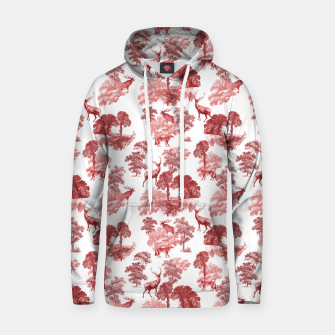 Thumbnail image of Classic Red Toile Deer in Forest Pattern Hoodie, Live Heroes