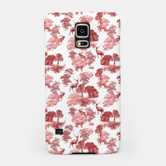 Thumbnail image of Classic Red Toile Deer in Forest Pattern Samsung Case, Live Heroes