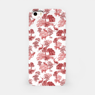Thumbnail image of Classic Red Toile Deer in Forest Pattern iPhone Case, Live Heroes