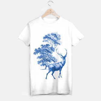 Thumbnail image of Blue Deer in Forest T-shirt regular, Live Heroes