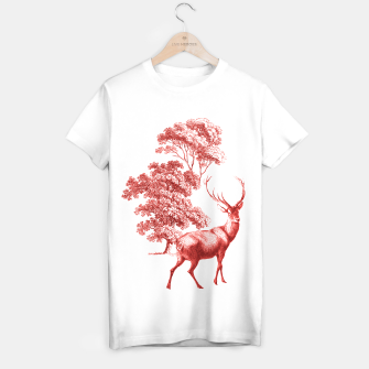 Thumbnail image of Red Deer in Forest T-shirt regular, Live Heroes