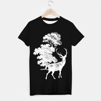 Thumbnail image of White Deer in Forest T-shirt regular, Live Heroes