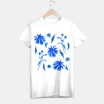 Thumbnail image of Echinacea Blue Ink Cone Flowers T-shirt regular, Live Heroes