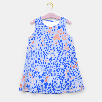 Miniaturka Violet Leopard Girl's summer dress, Live Heroes