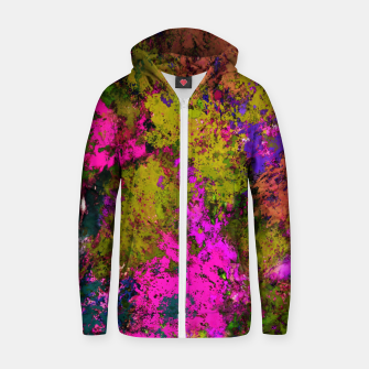Thumbnail image of Cross section Zip up hoodie, Live Heroes