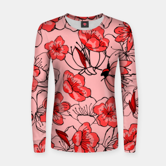 Thumbnail image of Red flower pattern Pull femme , Live Heroes