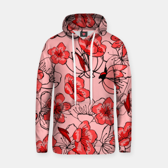 Thumbnail image of Red flower pattern Sweat à capuche , Live Heroes