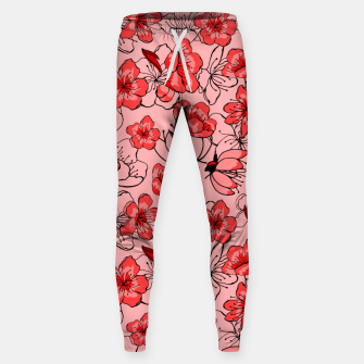 Thumbnail image of Red flower pattern Pantalons, Live Heroes