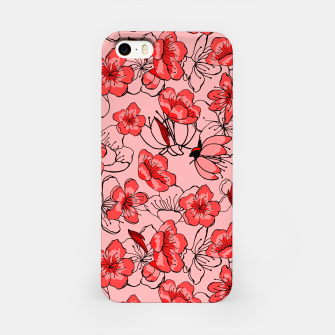 Thumbnail image of Red flower pattern Étui pour Iphone, Live Heroes