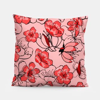 Miniatur Red flower pattern Coussin, Live Heroes