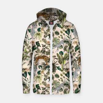 Thumbnail image of Wild animals in the lush jungle Sudadera con capucha y cremallera , Live Heroes