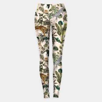Thumbnail image of Wild animals in the lush jungle Leggings, Live Heroes