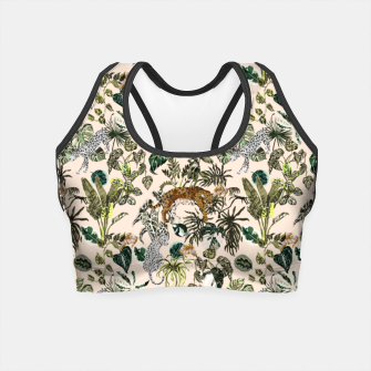 Miniatur Wild animals in the lush jungle Crop Top, Live Heroes
