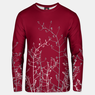 Thumbnail image of Modern Elegant Abstract Burgundy Red Flora Unisex sweater, Live Heroes