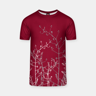 Thumbnail image of Modern Elegant Abstract Burgundy Red Flora T-shirt, Live Heroes